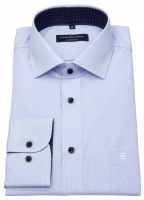 Hemd - Comfort Fit - Streifen - hellblau / weiß