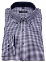 Hemd - Comfort Fit - Button Down - blau / weiß
