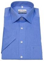 Kurzarmhemd - Comfort Fit - Chambray - blau