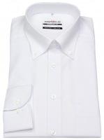 Hemd - Comfort Fit - Button Down Kragen - weiß