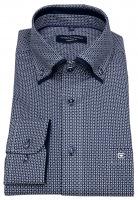 Hemd - Modern Fit - Button-Down - Print - dunkelblau