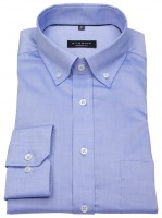Hemd - Comfort Fit - Button Down - Oxford - blau