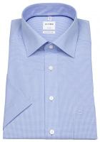 Kurzarmhemd - Luxor Comfort Fit - Check - hellblau / weiß