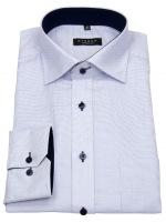 Hemd - Comfort Fit - sehr fein kariert - hellblau / weiß
