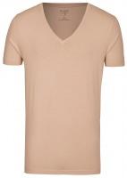 Level Five Body Fit - T-Shirt - tiefer V-Ausschnitt - caramel