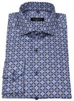 Hemd - Comfort Fit - dunkelblau / hellblau / weiß