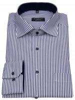Hemd - Comfort Fit - Streifen - blau / weiß