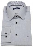 Hemd - Comfort Fit - Kontrastknöpfe - grau