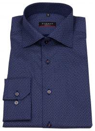 Hemd - Modern Fit - Kentkragen - Print - blau