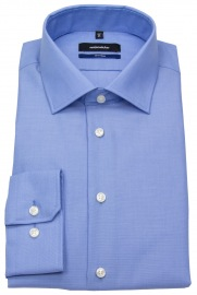 Hemd - Shaped Fit - Fil-a-Fil - blau