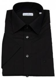Einhorn Kurzarmhemd - Regular Fit - Derby - schwarz