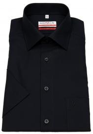 Marvelis Kurzarmhemd - Modern Fit - schwarz