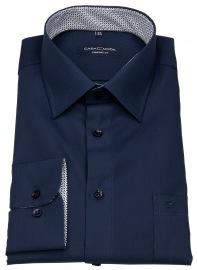 Hemd - Comfort Fit - Patch - dunkelblau