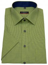 Kurzarmhemd - Modern Fit - grün / dunkelblau