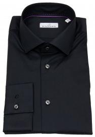 Einhorn Hemd - Body Fit Stretch - schwarz
