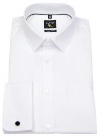 Hemd - No. Six Super Slim - Umschlagmanschette - weiß