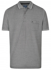 Poloshirt - Casual Fit - Piqué - schwarz / weiß