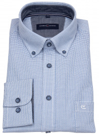 Casa Moda Hemd - Comfort Fit - Button Down Kragen - blau / weiß