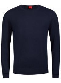Pullover - Level Five - Merinowolle - Rundhals - dunkelblau