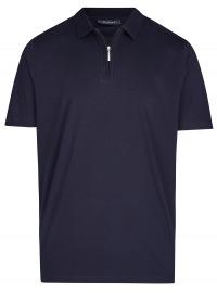 MAERZ Muenchen Poloshirt - Regular Fit - Reissverschluss - dunkelblau