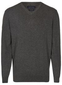 Pullover - V-Ausschnitt - anthrazit