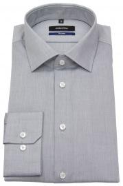 Hemd - Shaped / Tailored Fit - Kentkragen - grau