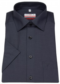 Kurzarmhemd - Modern Fit - Chambray - anthrazit