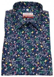 Kurzarmhemd - Modern Fit - Floraler Print - mehrfarbig