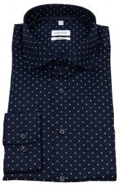 Seidensticker Hemd - Regular Fit - Kentkragen - dunkelblau / weiß