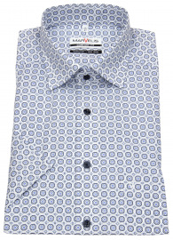 Kurzarmhemd - Comfort Fit - Under Button Down - blau