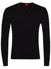 Pullover - Level Five - V-Ausschnitt - Merinowolle - schwarz