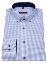 Hemd - Modern Fit - Button Down - Patch - hellblau / weiß
