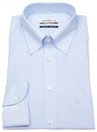 Hemd - Comfort Fit - Button Down Kragen - hellblau