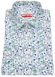 Marvelis Kurzarmhemd - Modern Fit - Floraler Print - mehrfarbig