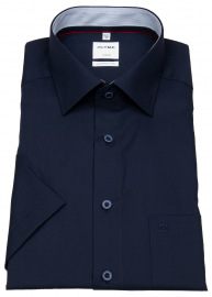 Kurzarmhemd - Comfort Fit - New Kent - Patch - dunkelblau