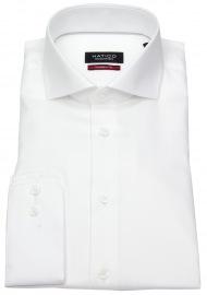 Hemd - Modern Fit - Haifischkragen - weiß
