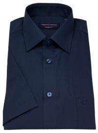 Casa Moda Kurzarmhemd - Modern Fit - dunkelblau