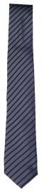 Seidenkrawatte - Slim - blau / anthrazit gestreift