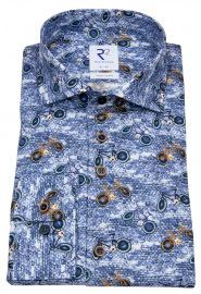 Hemd - Modern Fit - Haifischkragen - Fahrräder - blau