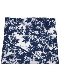 Einstecktuch - Seide - dunkelblau / weiß