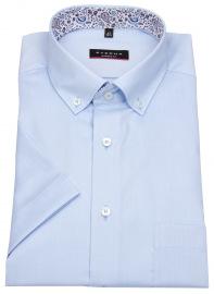 Kurzarmhemd - Modern Fit - Button Down - hellblau