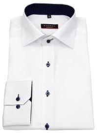 Eterna Hemd - Modern Fit - Oxford - Kontrastknöpfe - weiß