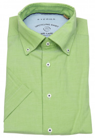 Kurzarmhemd - Modern Fit - We Care Shirt - grün