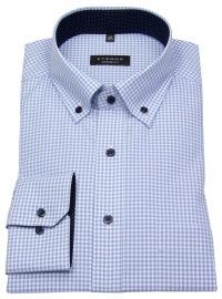 Hemd - Comfort Fit - Button Down - hellblau / weiß