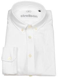 Hemd - Casual Fit - Button Down Kragen - weiß