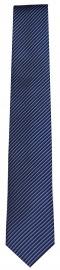Seidenkrawatte - Slim - blau / schwarz - fein gestreift
