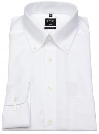 OLYMP Hemd - Luxor Modern Fit - Button-Down Kragen - weiß