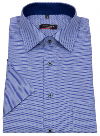 Eterna Kurzarmhemd - Modern Fit - blau / dunkelblau
