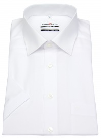 Kurzarm Hemd - Comfort Fit - weiß