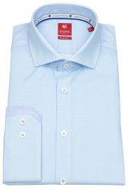 Pure Hemd - Slim Fit - Haifischkragen - hellblau / weiß